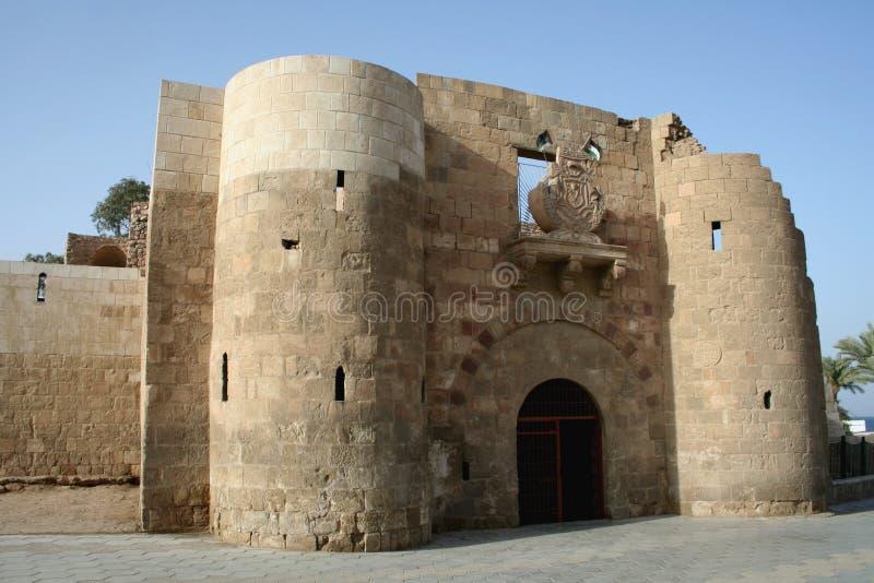 亚喀巴城堡 图库摄影