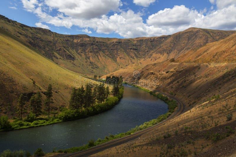 亚基马峡谷河峡谷 免版税库存照片