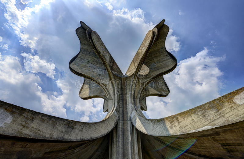 亚塞诺瓦茨WWII纪念品纪念碑 库存图片