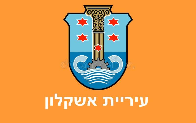 亚实基伦,以色列旗子  皇族释放例证