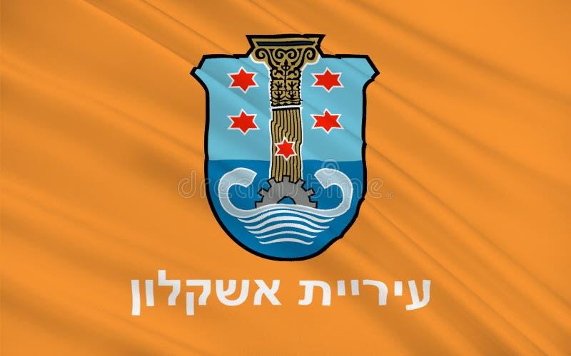 亚实基伦,以色列旗子  向量例证
