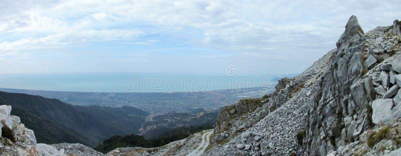 亚尔他montagna的全景 免版税库存图片