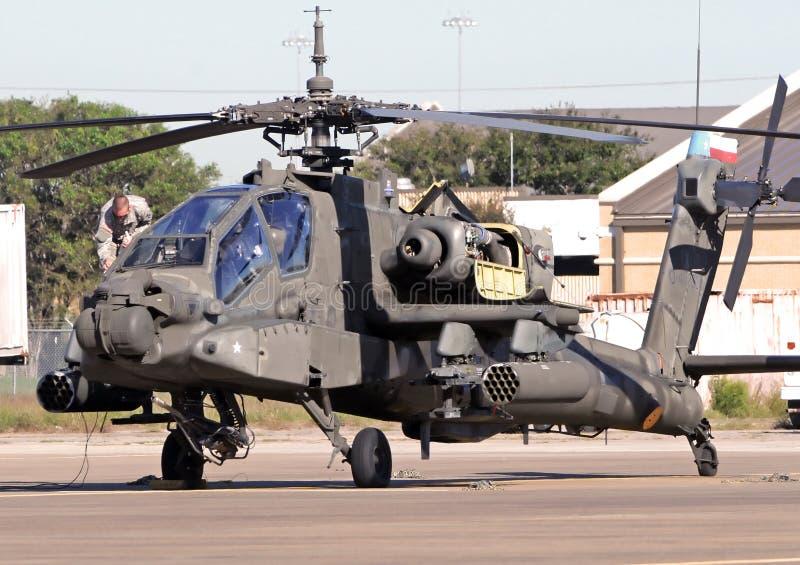 亚帕基印第安人前检验飞行直升机 库存照片