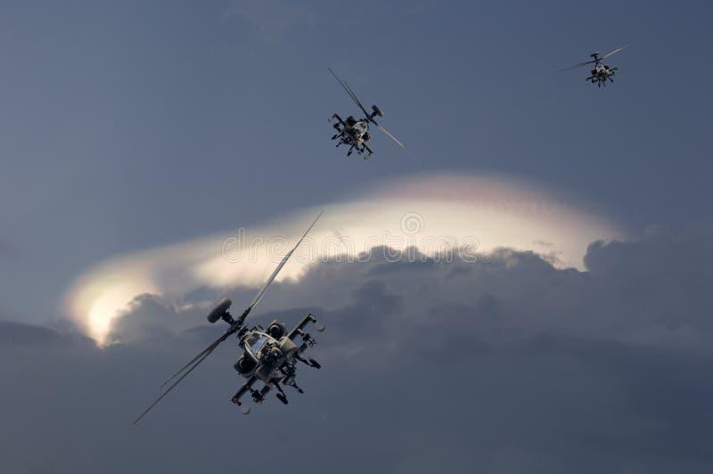 亚帕基印第安人攻击用直升机 免版税库存照片