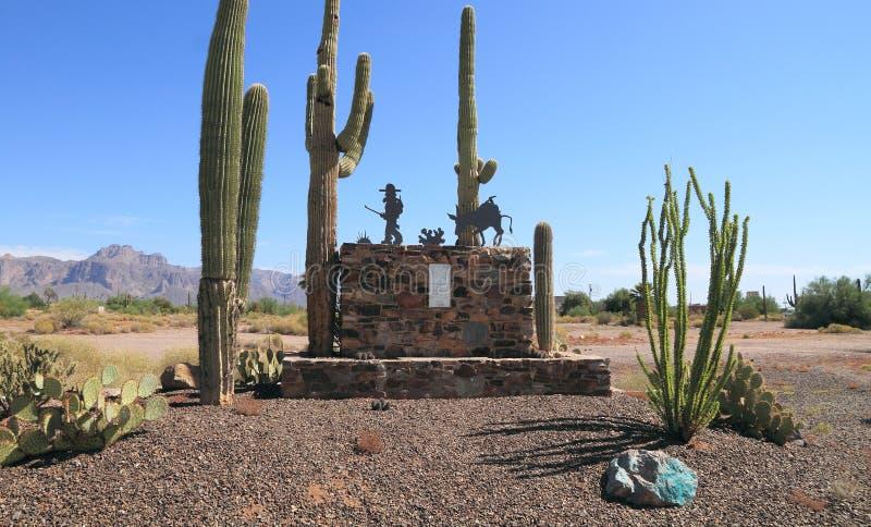 亚帕基连接点,亚利桑那:失去的荷兰人矿纪念品 免版税库存图片