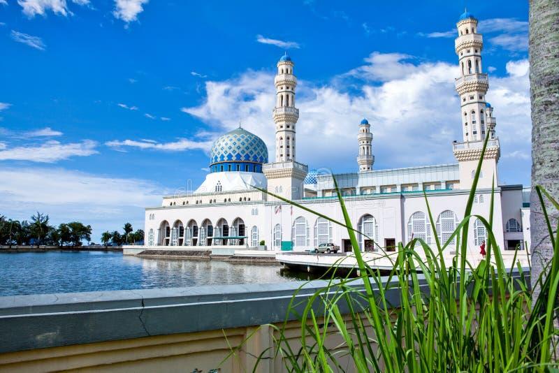 亚庇市清真寺,沙巴,婆罗洲,马来西亚 库存照片
