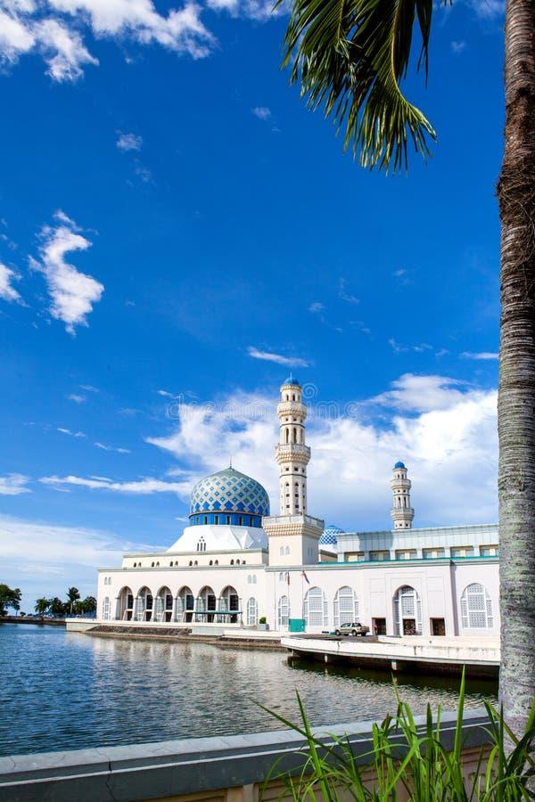 亚庇市清真寺,沙巴,婆罗洲,马来西亚 免版税图库摄影