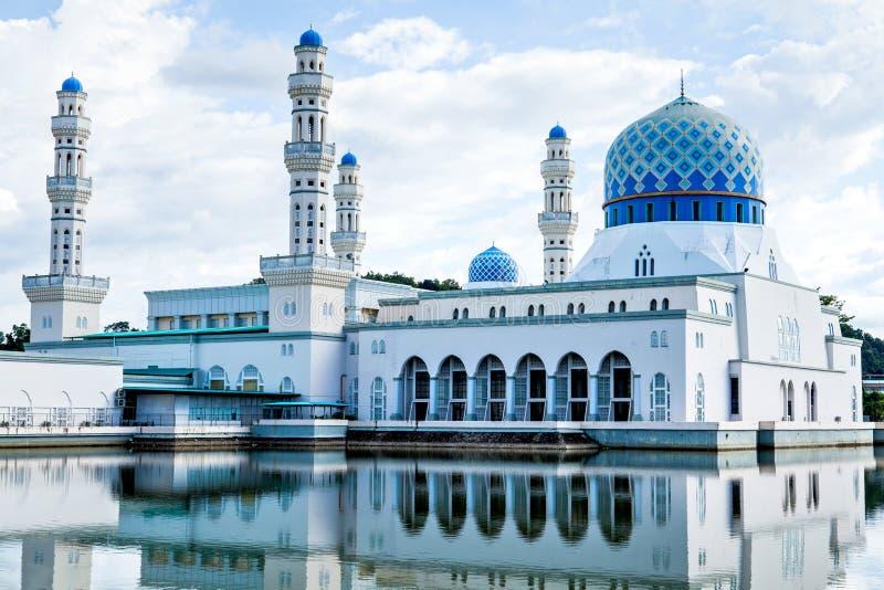 亚庇市清真寺,沙巴,婆罗洲,马来西亚 图库摄影
