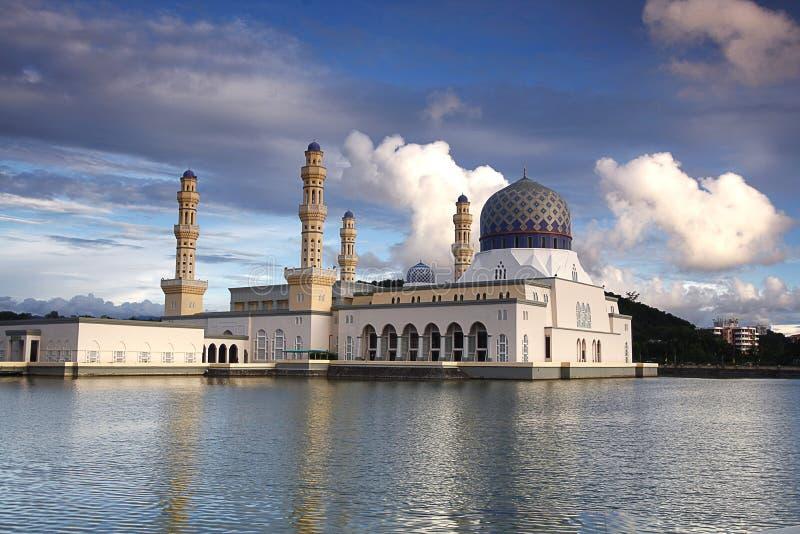 亚庇市清真寺,沙巴婆罗洲 免版税库存图片