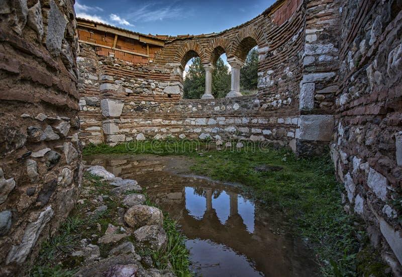 亚底米神庙, Sardes,马尼萨,土耳其 免版税图库摄影