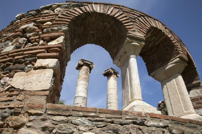 亚底米神庙, Sardes 马尼萨-土耳其 图库摄影