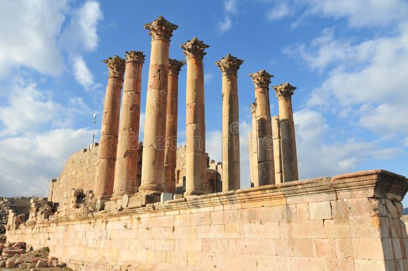 亚底米神庙-杰拉什,约旦 免版税库存图片