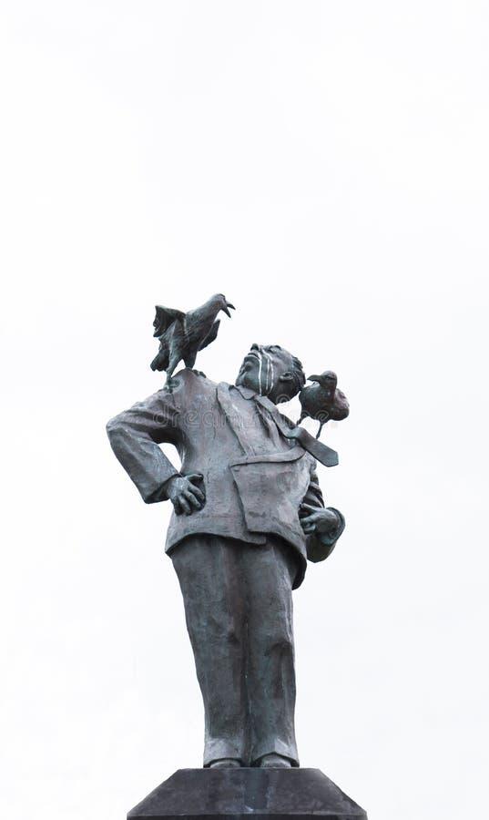 亚弗列・希治阁雕象 免版税库存图片