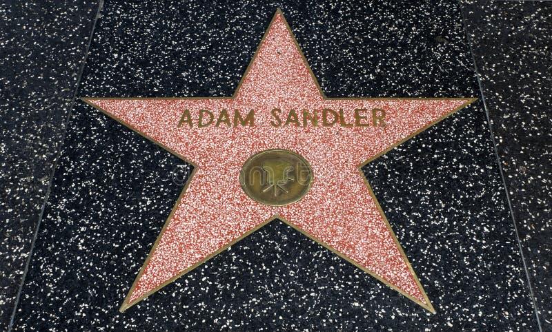 亚当・山德勒` s星,好莱坞星光大道- 2017年8月11日, -好莱坞大道,洛杉矶,加利福尼亚,加州 免版税库存照片