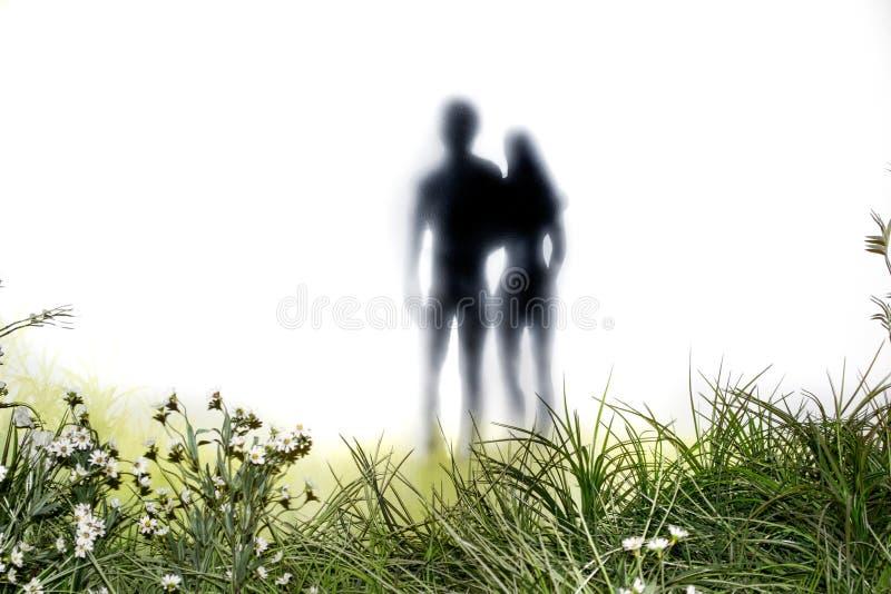 亚当和伊芙在他们的秋天以后 库存照片