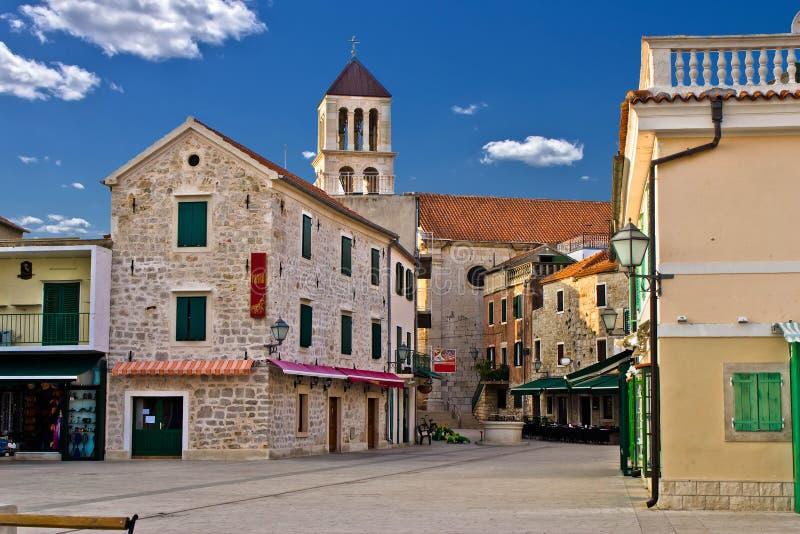 亚得里亚海的克罗地亚城镇vodice 库存图片