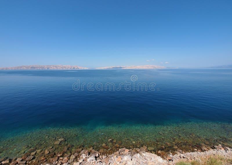 亚得里亚海的克罗地亚海运 库存照片