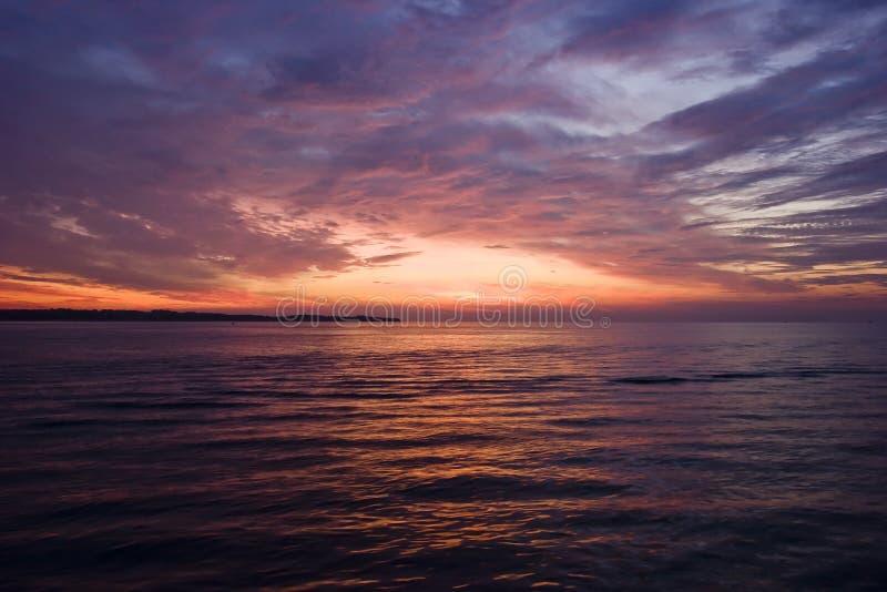 亚得里亚海的日落 库存照片