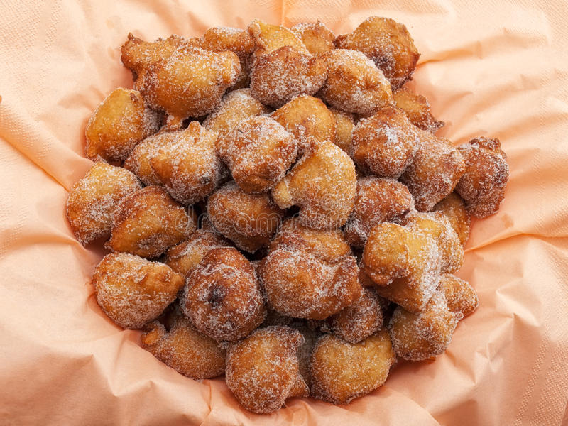 亚得里亚海的油炸馅饼 免版税库存图片