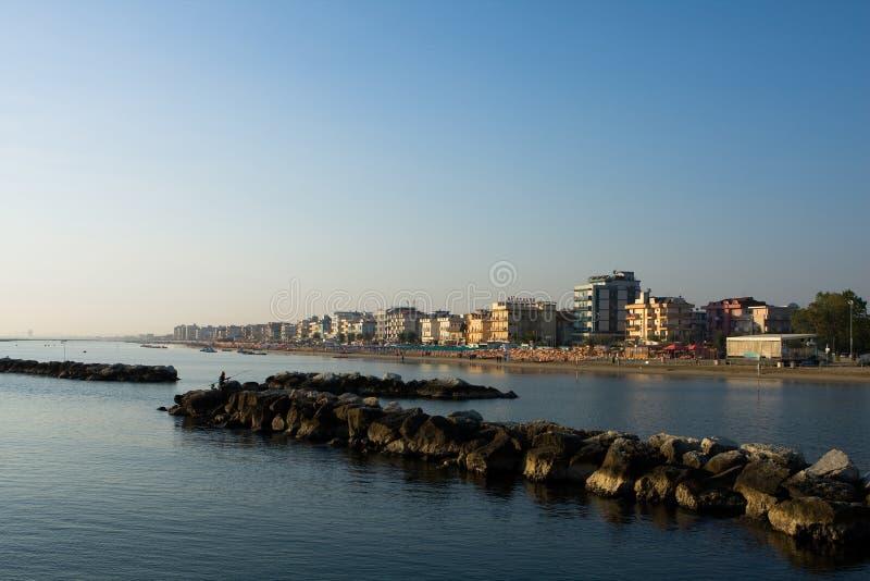 亚得里亚海的海岸横向 免版税库存照片