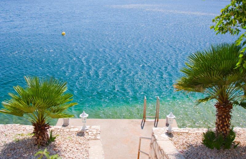 亚得里亚海的海滩 免版税图库摄影