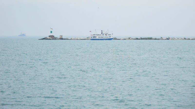 亚得里亚海的灯塔 免版税库存照片