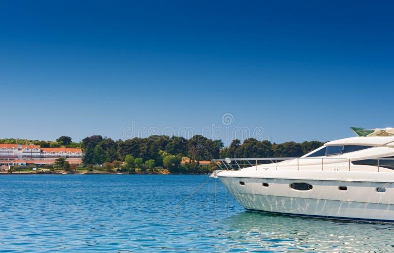 亚得里亚海的豪华海运游艇 免版税库存图片