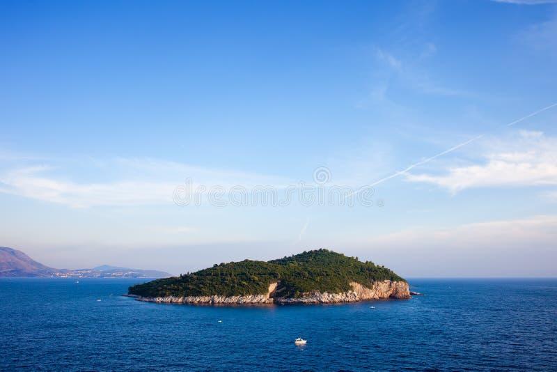 亚得里亚海的Lokrum海岛 免版税库存图片