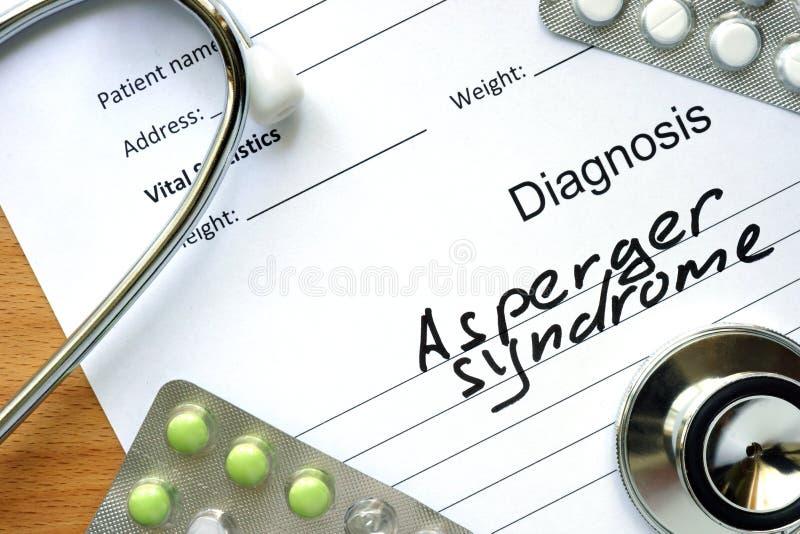 亚斯伯格综合症状 库存照片