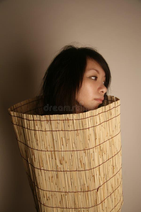 亚洲人去女孩查找 免版税库存图片
