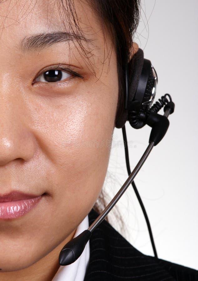 亚洲人员技术支持 库存照片