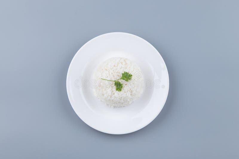 亚洲人您的广告的蒸的米 库存照片