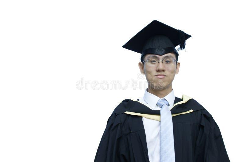 亚洲人毕业生男性微笑 免版税图库摄影