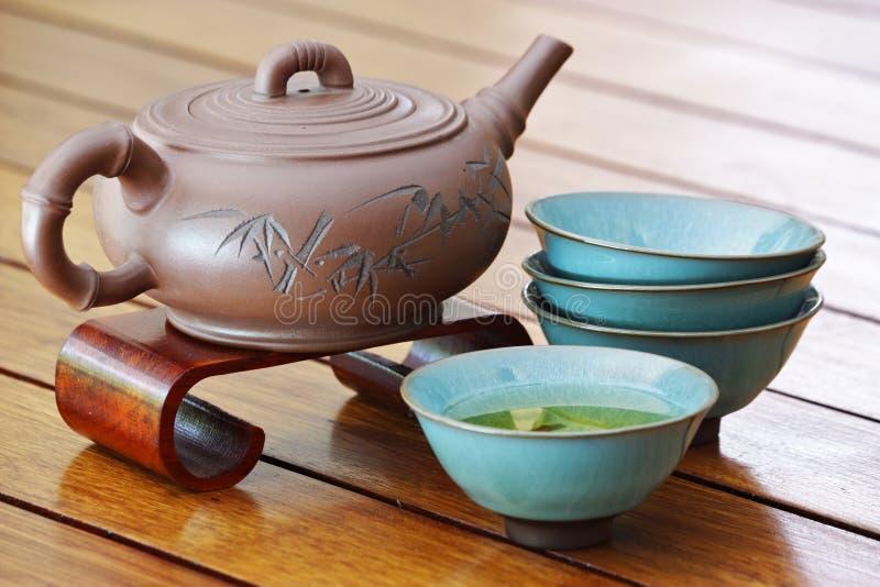亚洲人集合茶 免版税图库摄影