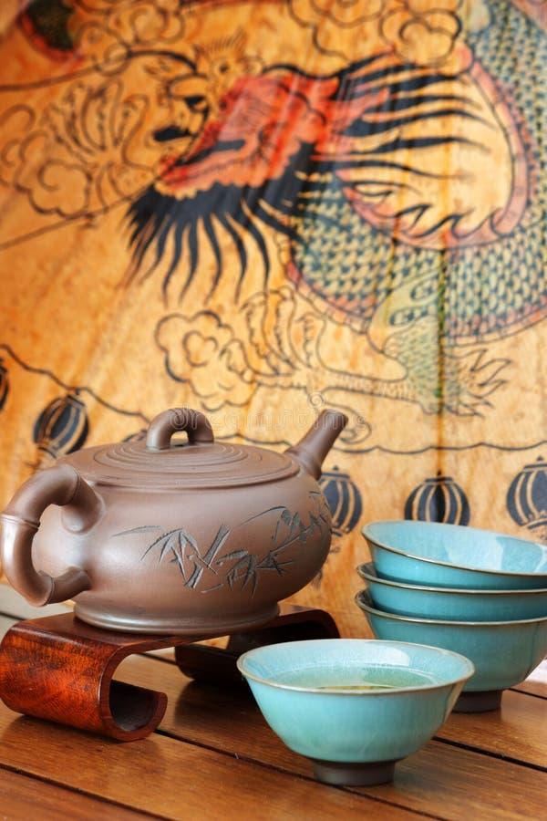 亚洲人集合茶 免版税库存照片