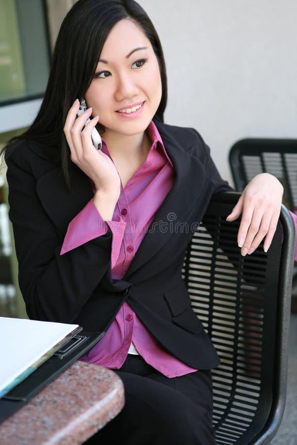 亚洲企业俏丽的妇女 免版税库存照片