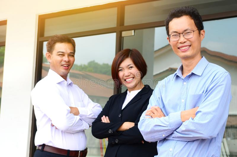 亚洲企业小组 库存图片