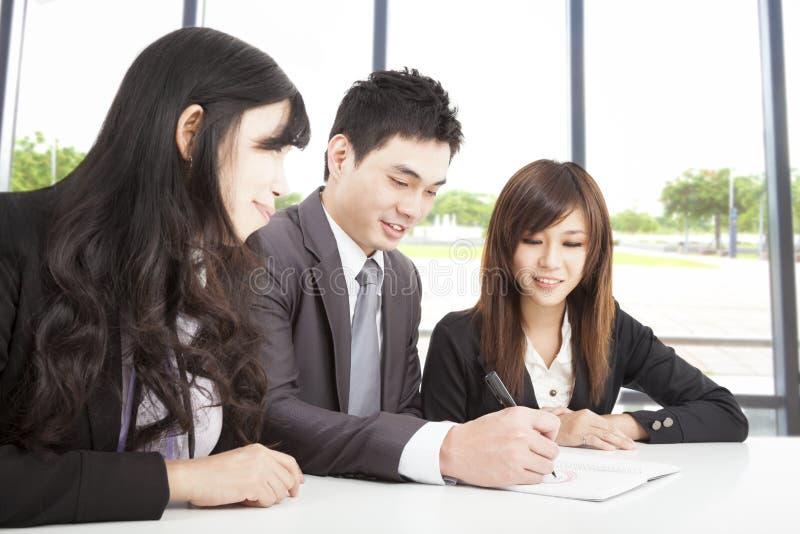 亚洲企业小组 库存照片