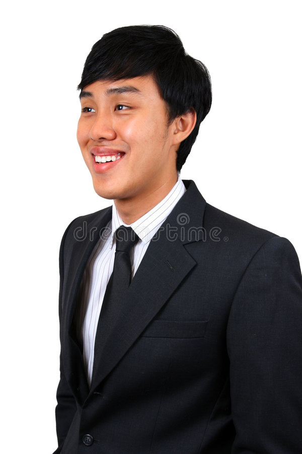 亚洲企业确信的人年轻人 免版税库存照片