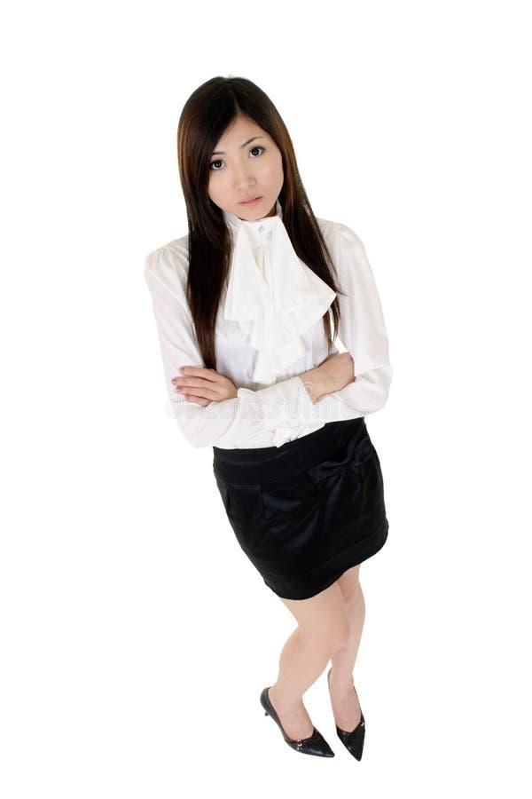 亚洲企业确信的妇女 库存照片