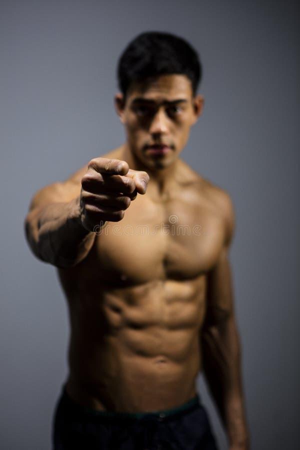 亚洲健身式样今后指向 免版税库存图片
