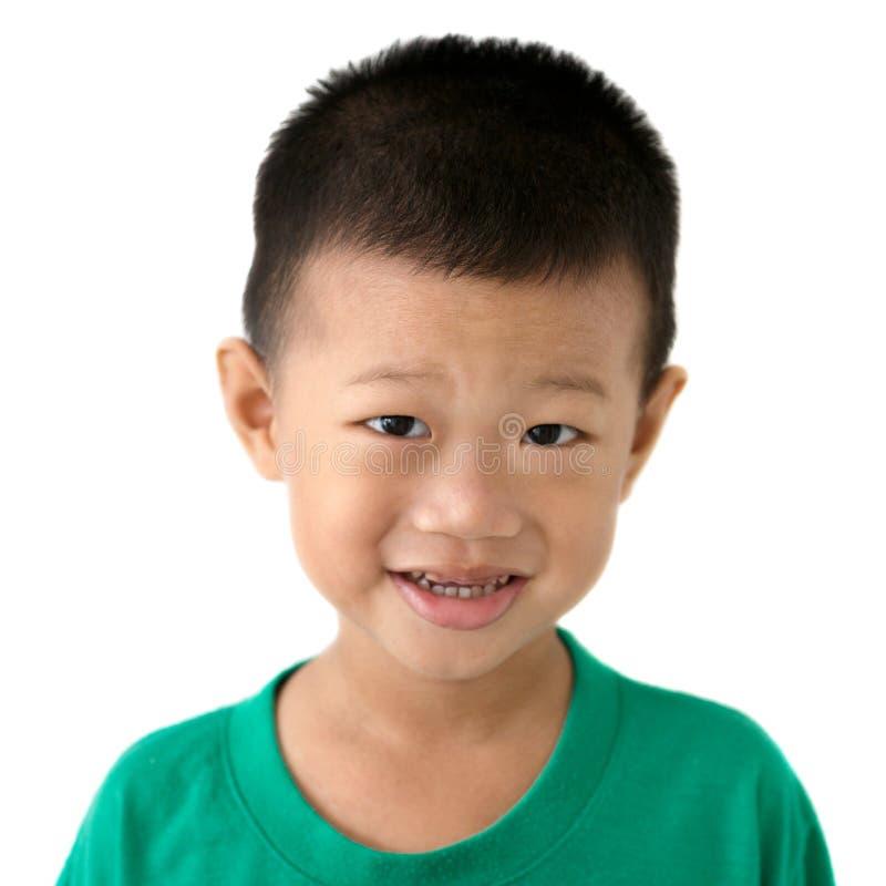亚洲儿童纵向 免版税库存照片