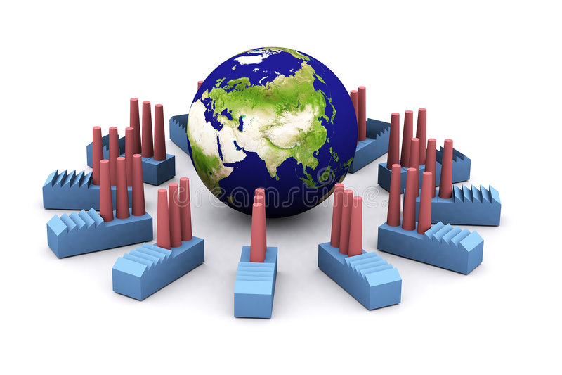 亚洲冲减能源 库存例证