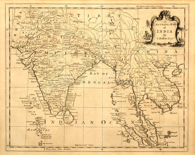 亚洲印度映射se葡萄酒 向量例证