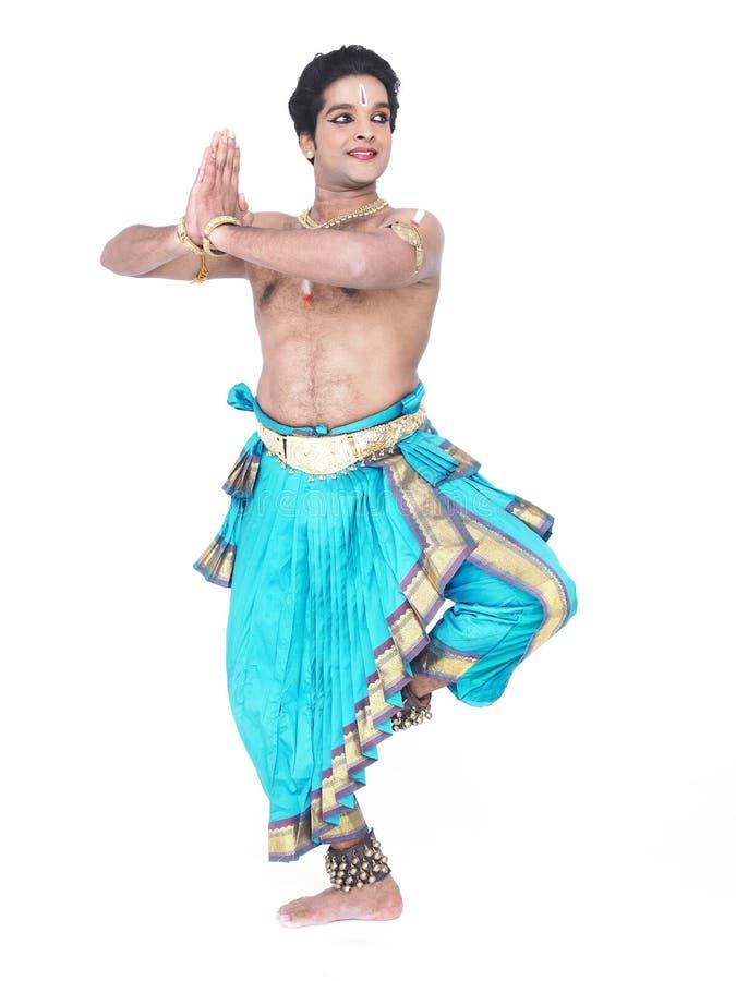 亚洲古典舞蹈演员男 免版税库存照片