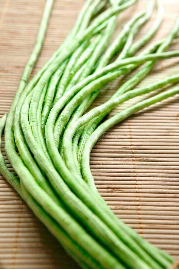 亚洲嘎吱咬嚼的longbean传统蔬菜 免版税图库摄影