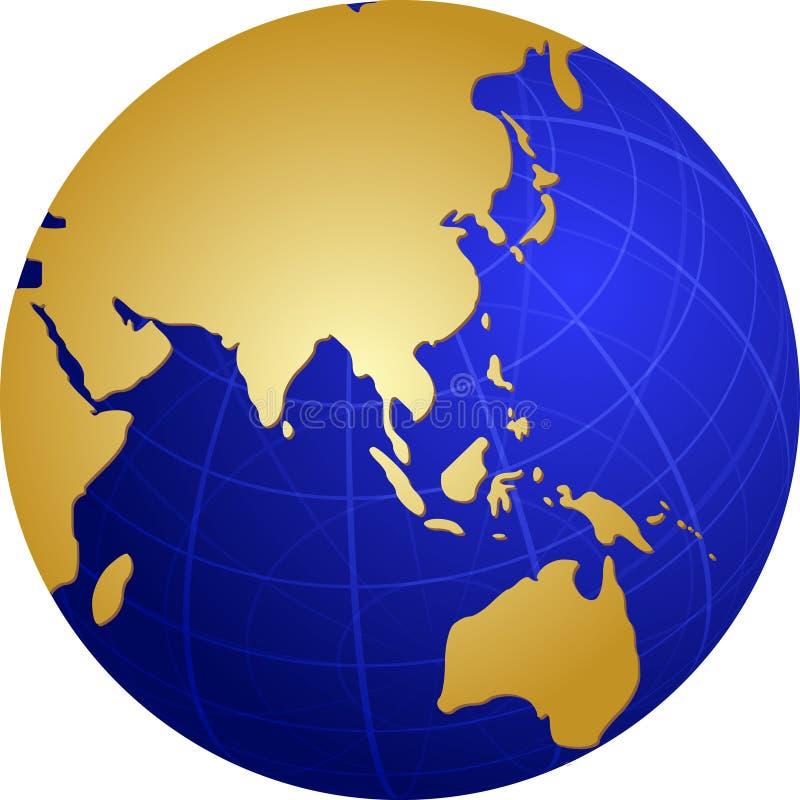 亚洲地球例证映射 向量例证