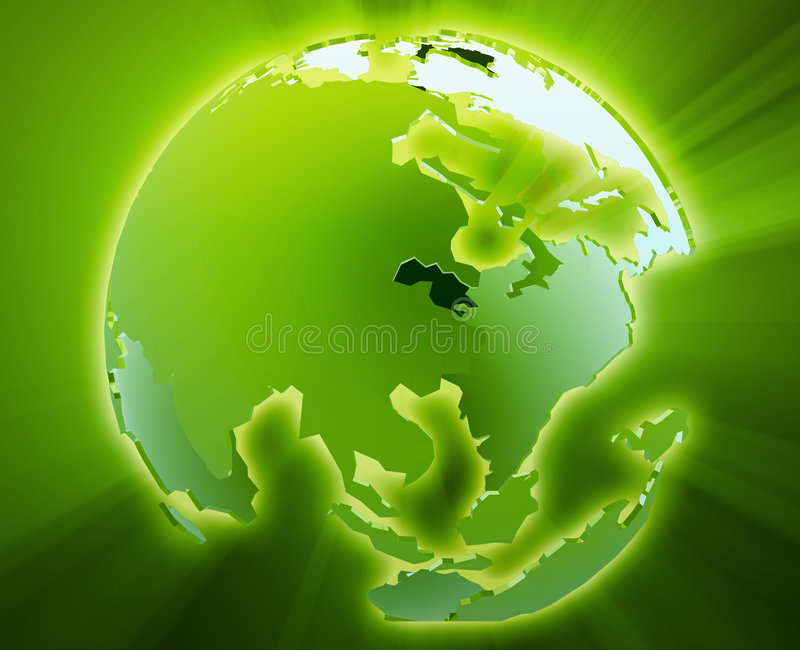 亚洲地球太平洋 库存例证
