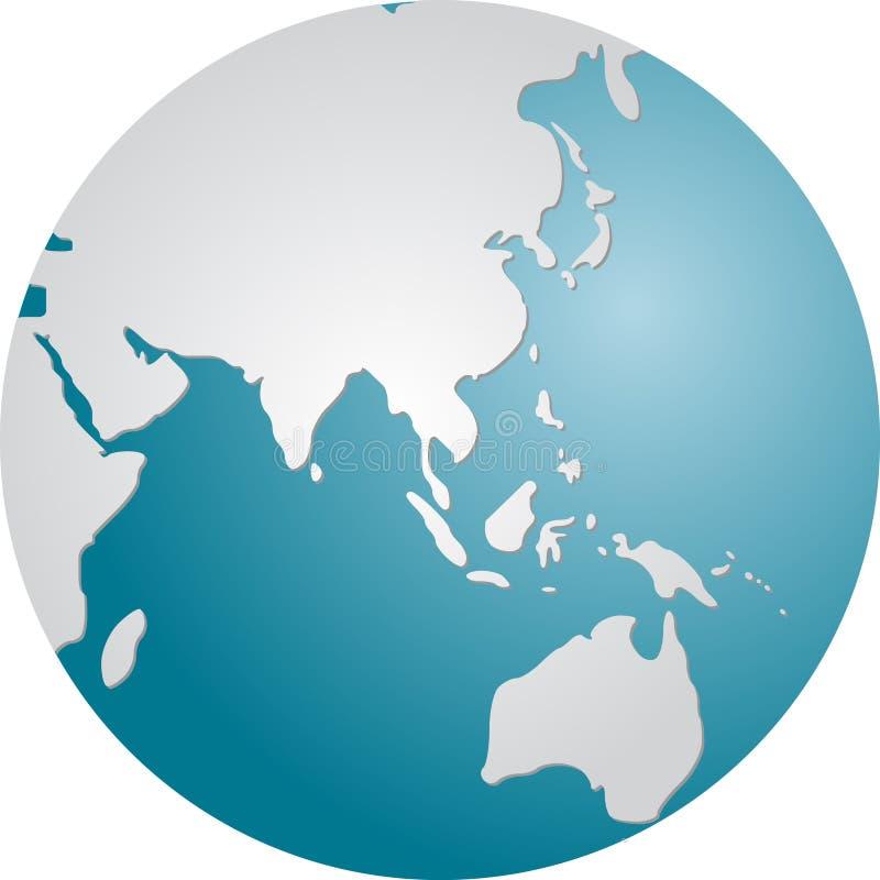 亚洲地球 库存例证