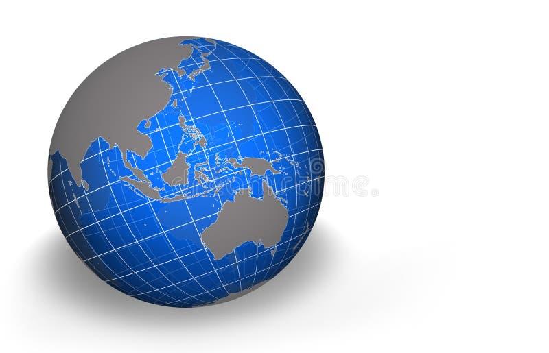 亚洲地球 向量例证